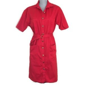 Vintage Red Cotton Dress